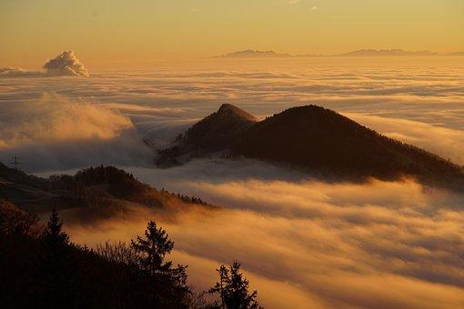 Homberg, Wolken, Wolkenmeer, Nebelmeer