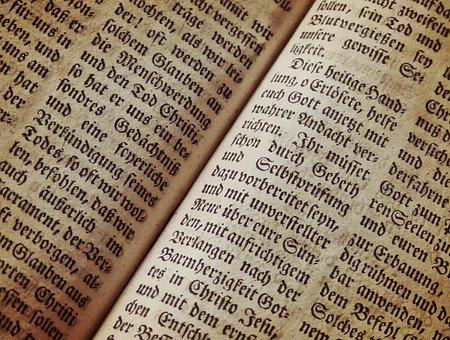 Biblia, Página Del Libro, Fuente