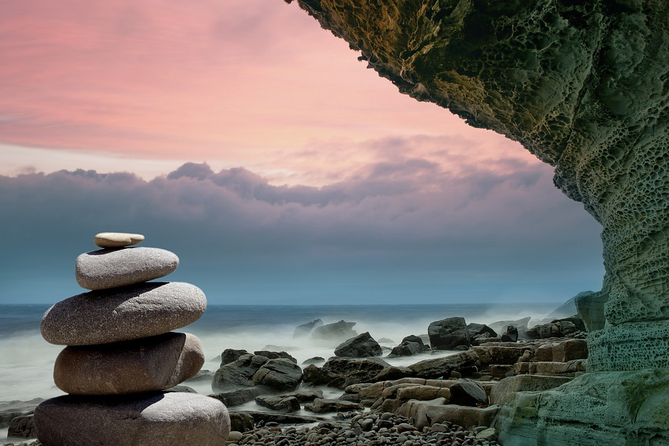rock formation at seashore