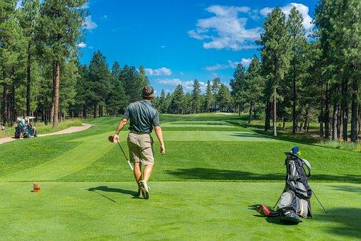 ゴルファー, ゴルフ, コース, プレーヤー, 男性