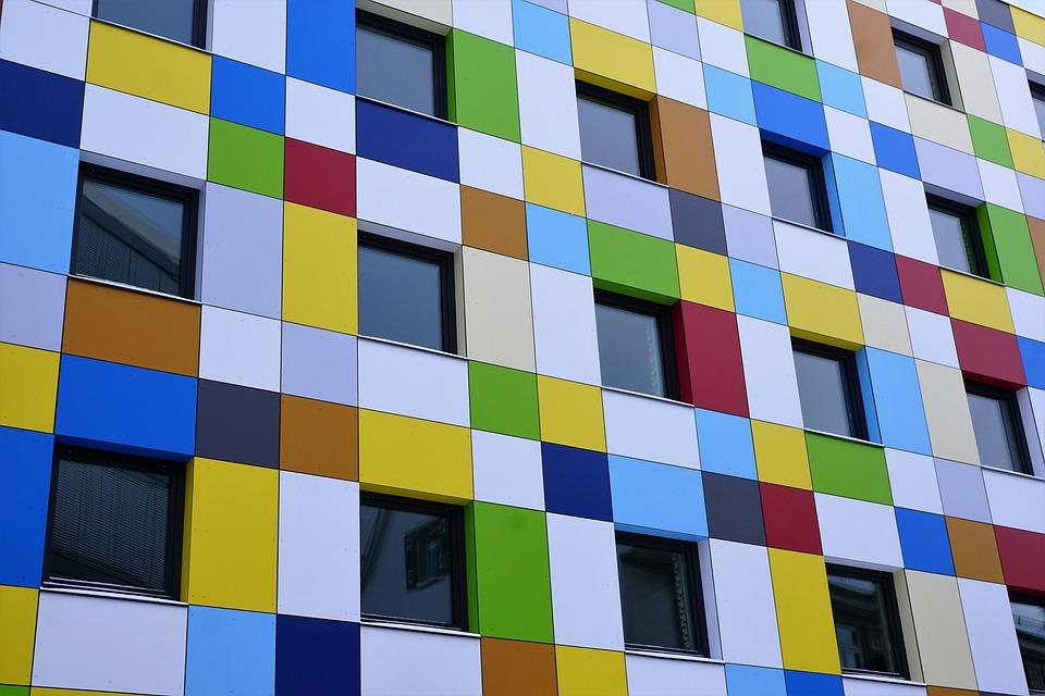 Glasfassade bunt  Kostenloses Foto: Fassade, Hotel, Tuttlingen, Bunt - Kostenloses ...