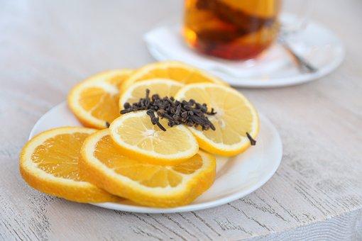 Saucer, Fruit, Citrus, Oranges, Lemon
