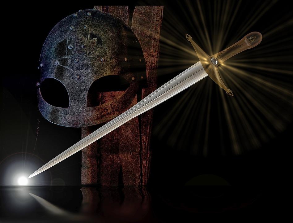 Экскалибур, Рыцарь, Средние Века, Борьба, Меч, Оружие