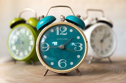 アラーム、時計、時間、時間、分、白