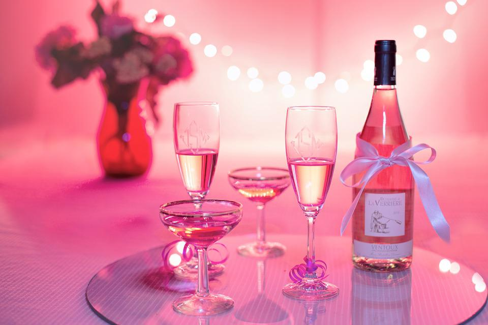 Pink Wine, Champagne, Celebration, Pink