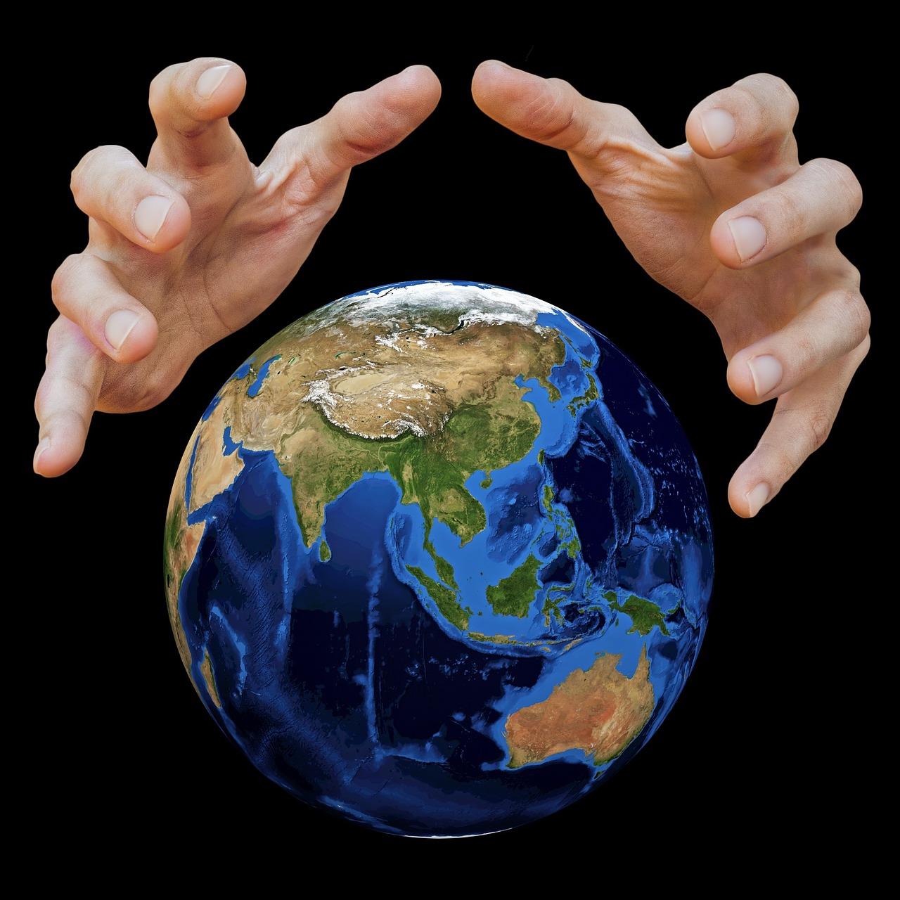 этом заключается картинка земной шар в руках характер размытия фотографии