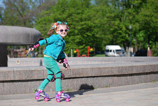 Kids, Girl, Rollers, Joy, Children
