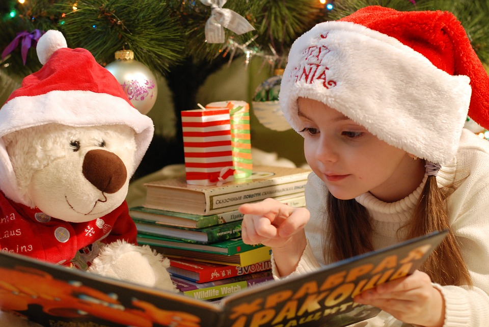 Candle, Girl, Santa Claus, Story, Book, Holiday