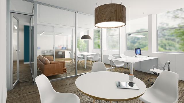 Office minimal white free image on pixabay for Muebles para oficina estilo minimalista
