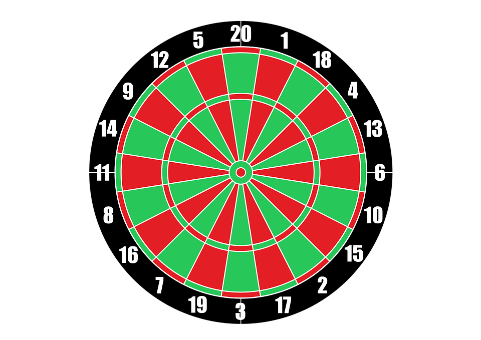 Vector Dartboard Target Darts · Free vector graphic on Pixabay