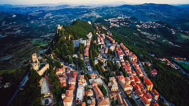 San Marino, City, Urban, Buildings