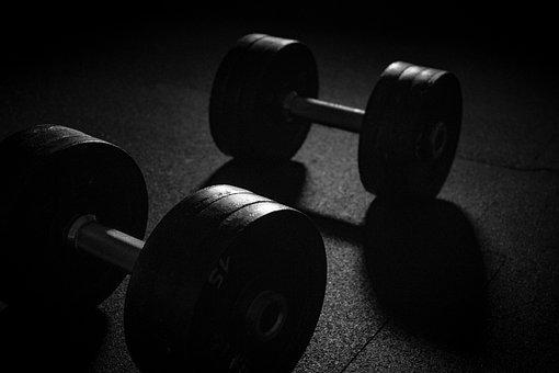 ダンベル, スポーツ, 重量, 筋力トレーニング, 重量挙げ, 筋肉, 鉄道