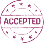 stamp, accepted, symbol