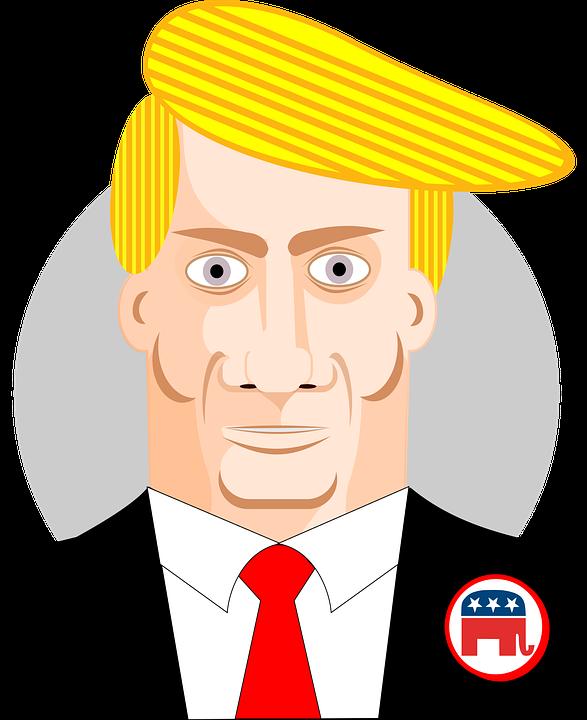 Triunfo De Donald, Caricatura, Presidente, Ee Uu