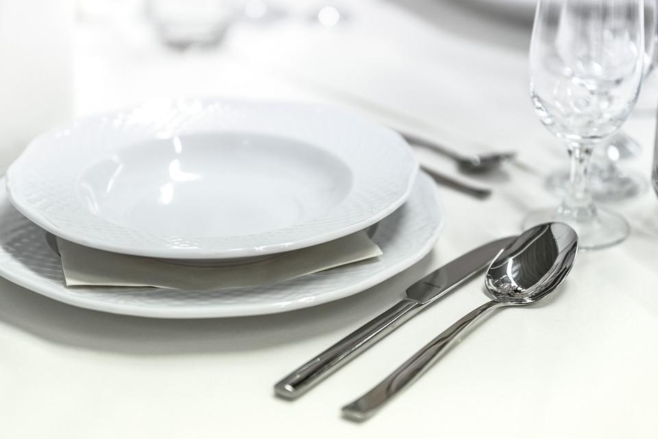 Hochzeitsfeier, Bankett, Geschirr, Besteck, Hochzeit