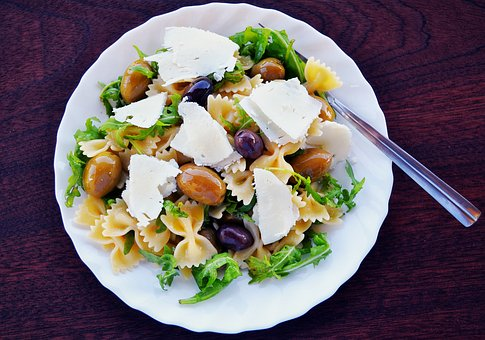 Pasta Salad, Olives, Feta Cheese