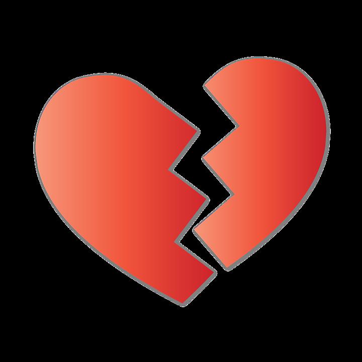 失恋, 骨折, 心臓, 割れた, サイン, 形, 愛, 壊れた, シンボル, バレンタイン, 割れ目, 悲しみ