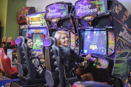 Girls Playing, Car, Game, Girls