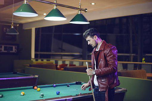 Guy Playing Billiard, Pool Table, Men