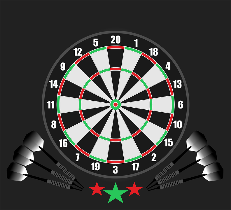 Darts and Dartboard