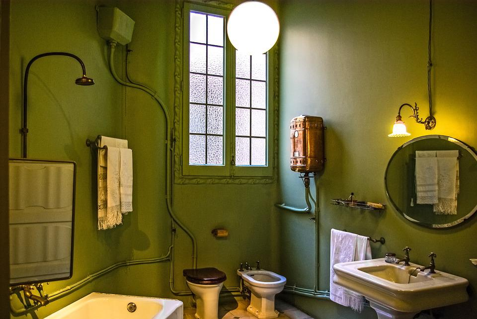 Free photo casa mila gaudi bathroom free image on for Amenagement salle de bain 5m2