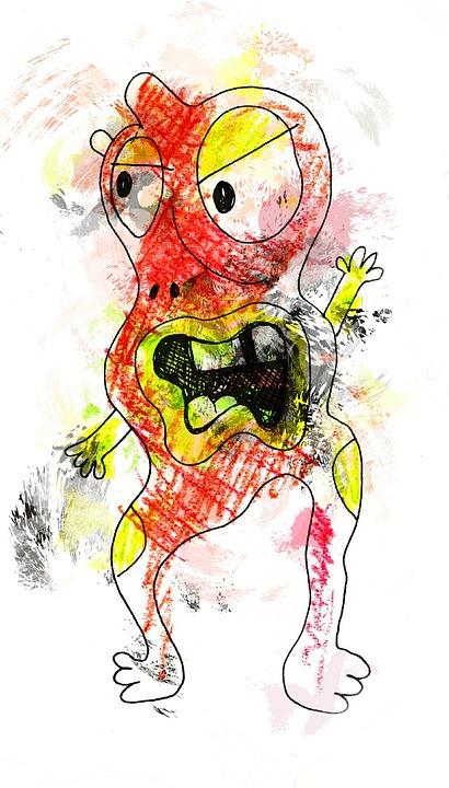 scribble cartoon monster free image on pixabay