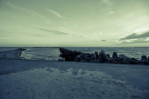 Küste, Meer, Strand, Wasser, Düne