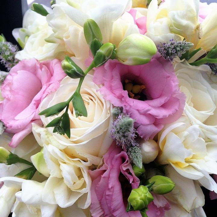Blumenstrauss Hochzeit Rosa Kostenloses Foto Auf Pixabay