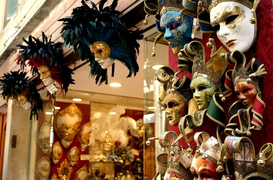 Resultado de imagen de venecia mascaras