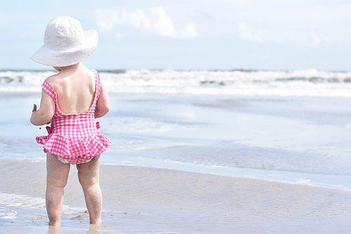 Beach Sand Girl Toddler Summer Sea Vacatio