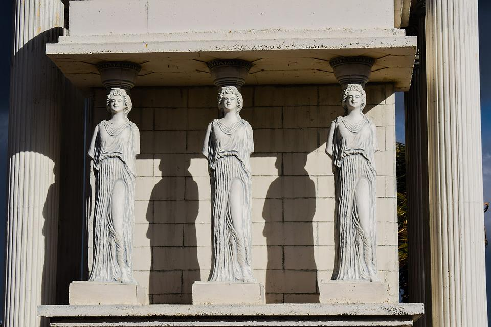 caryatid column classical free photo on pixabay