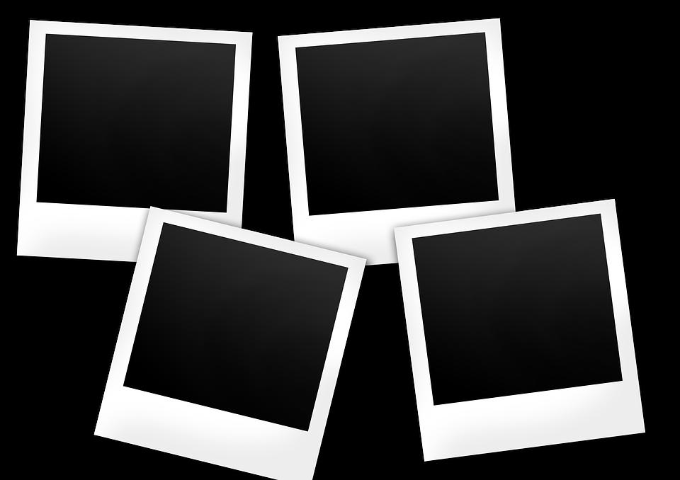 многие фото в белой рамке как называется ракурс
