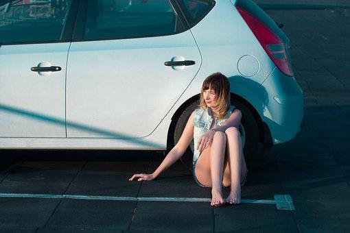 Girl, Alcohol, Auto, Machine, Model