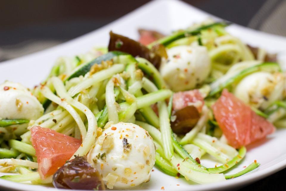 Zucchini, Noodles, Healthy, Diet, Cheese, Mozzarella