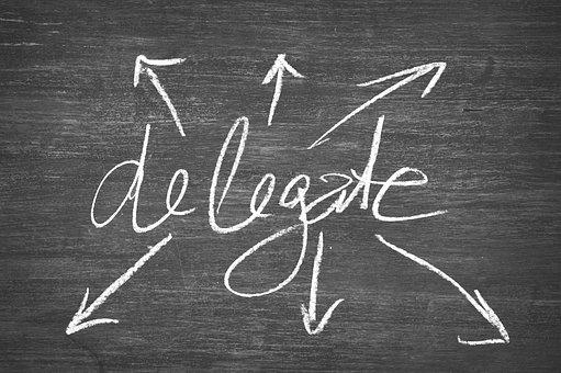 デリゲート, ボード, 適用します, 力を与える, 転送, 雇う, それを渡す
