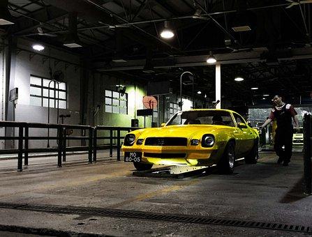 Chevrolet, Camaro, Vintage, Car, Drive