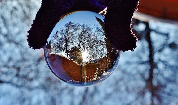 Lasikuula, Peilaus, Sun, Talvi, Lumi