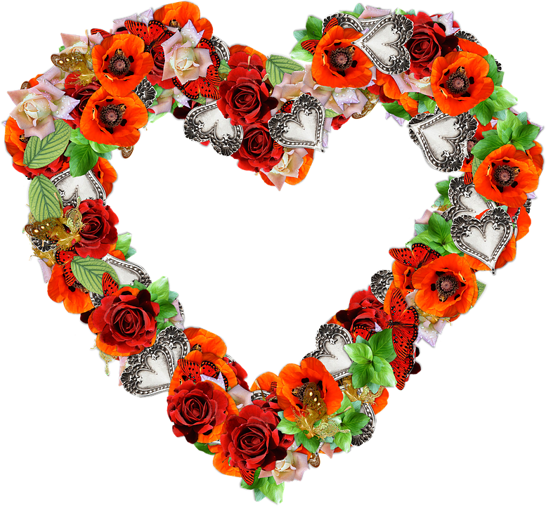 free illustration heart, flowers, png, love  free image on, Beautiful flower