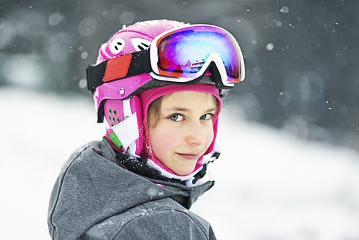 Ski Girl with Goggles
