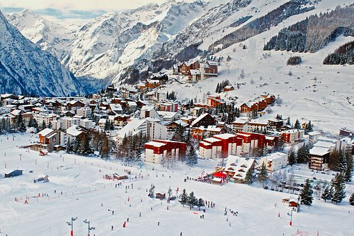 France Ski Skiing Resort Mountains Leisure