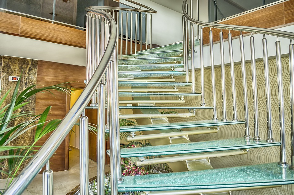 Glass Stairs, Ramp, Limit, Glass, Design, Modern