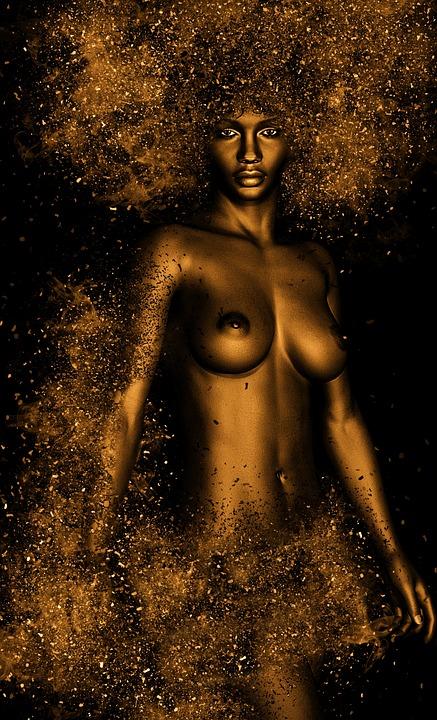 alaston Afrikkalainen naiset