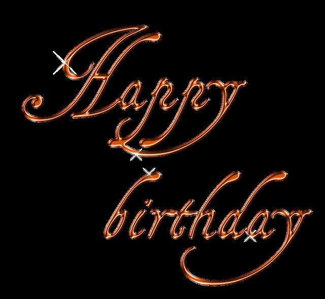 Free Illustration: Happy Birthday, Lettering, Font