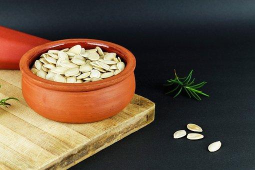 Pumpkin Seeds, Pot, Dry, Earthen Pot
