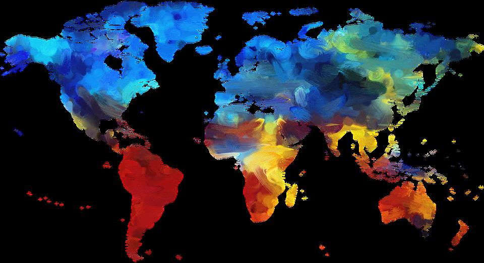 Weltkarte bunt jooptimmer for Weltkarte deko