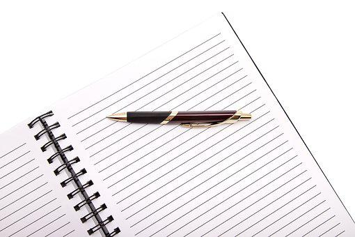 Office, Pen, Notebook, Diary, Work
