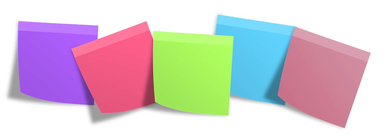 Post it note poster board