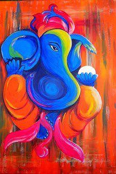 Silver And White Elephant Painting