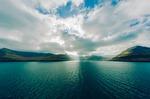faroe islands, mountains, sea