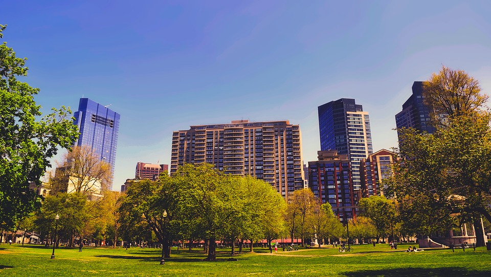 Boston, Massachusetts, Ciudad, Urbana, Edificios
